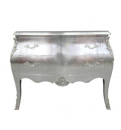 Cómoda Luis XV barroca barroca de plata - Muebles barrocos