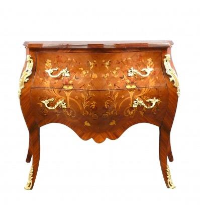 Commode Louis XV en bois précieux - Meubles Louis XV -