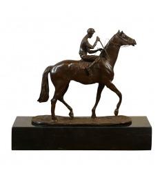 Bronzestatue - Der Jockey