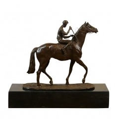 Statue in bronze - The jockey