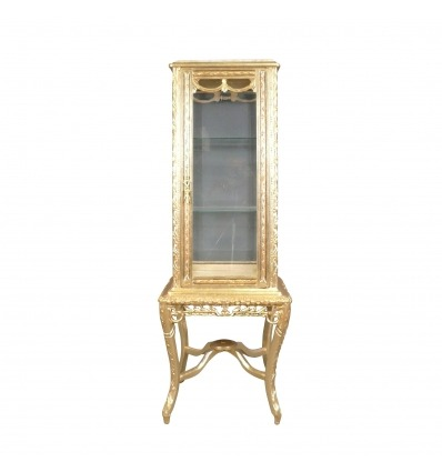 Golden baroque display case - Baroque showcase