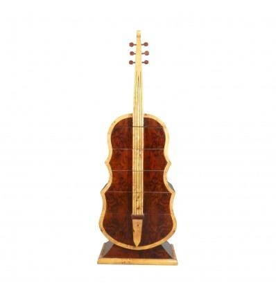 Cofre de guitarra art déco de palisandro