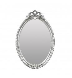 Hopeinen barokki peili