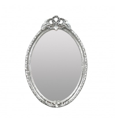 Barockspiegel aus massivem Silberholz