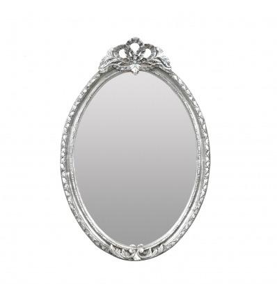 Baroque mirror in solid silver wood