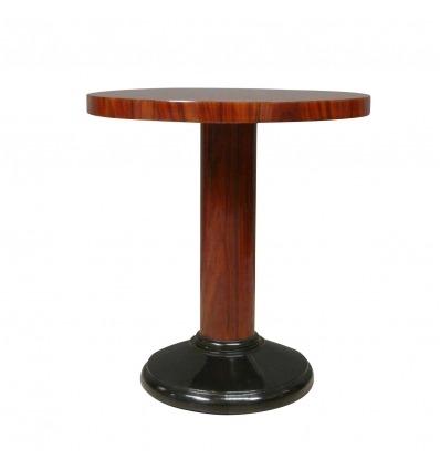 Mesa art deco redondo - estilo de mobiliário art deco 1920 -