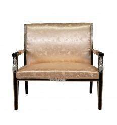 Mahogny Empire soffa