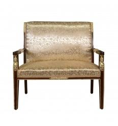 Skärmförstoraren mahogny Empire soffa