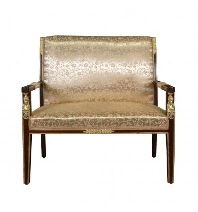 Empire sohva suurennuslasi mahonki - Napoleon III huonekalut