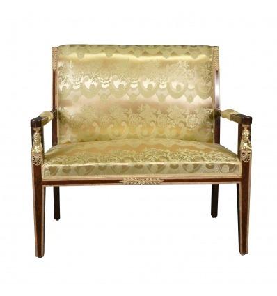 Empire soffa tyg guld satin Empire - vardagsrum möbler