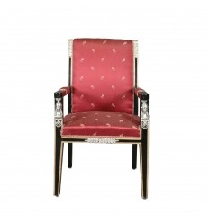 Fauteuil Empire rouge - Mobilier style Empire