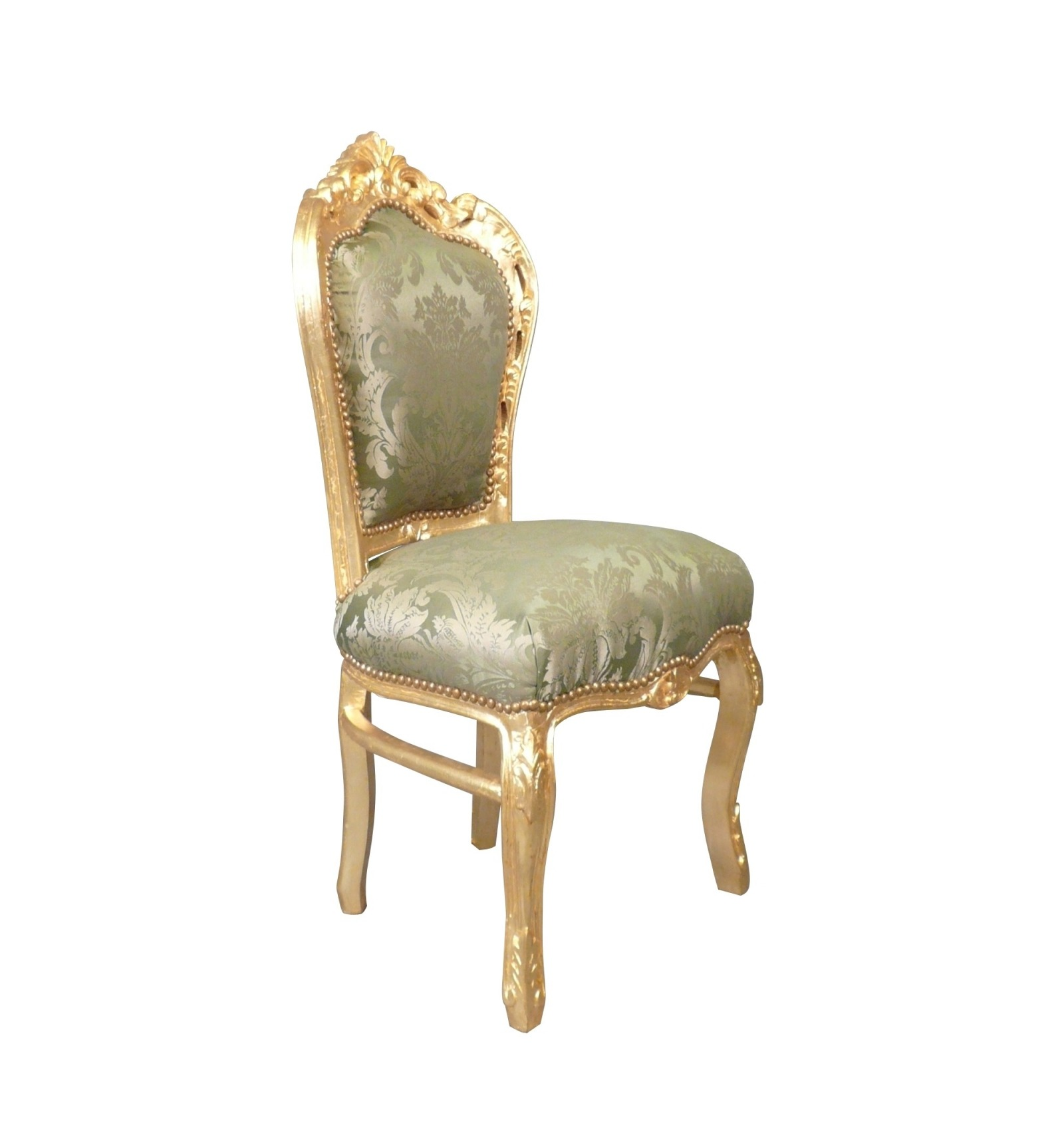 chaise baroque verte chaise baroque verte en bois dor - Chaise Baroque