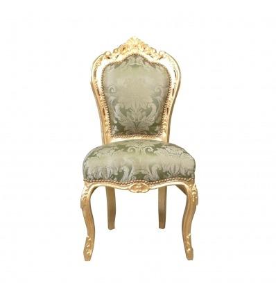 Chaise baroque verte