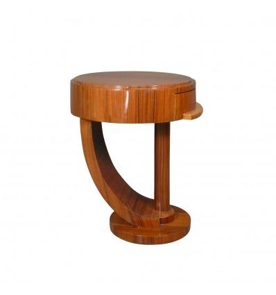 Table de chevet art déco en palissandre - Meubles art déco