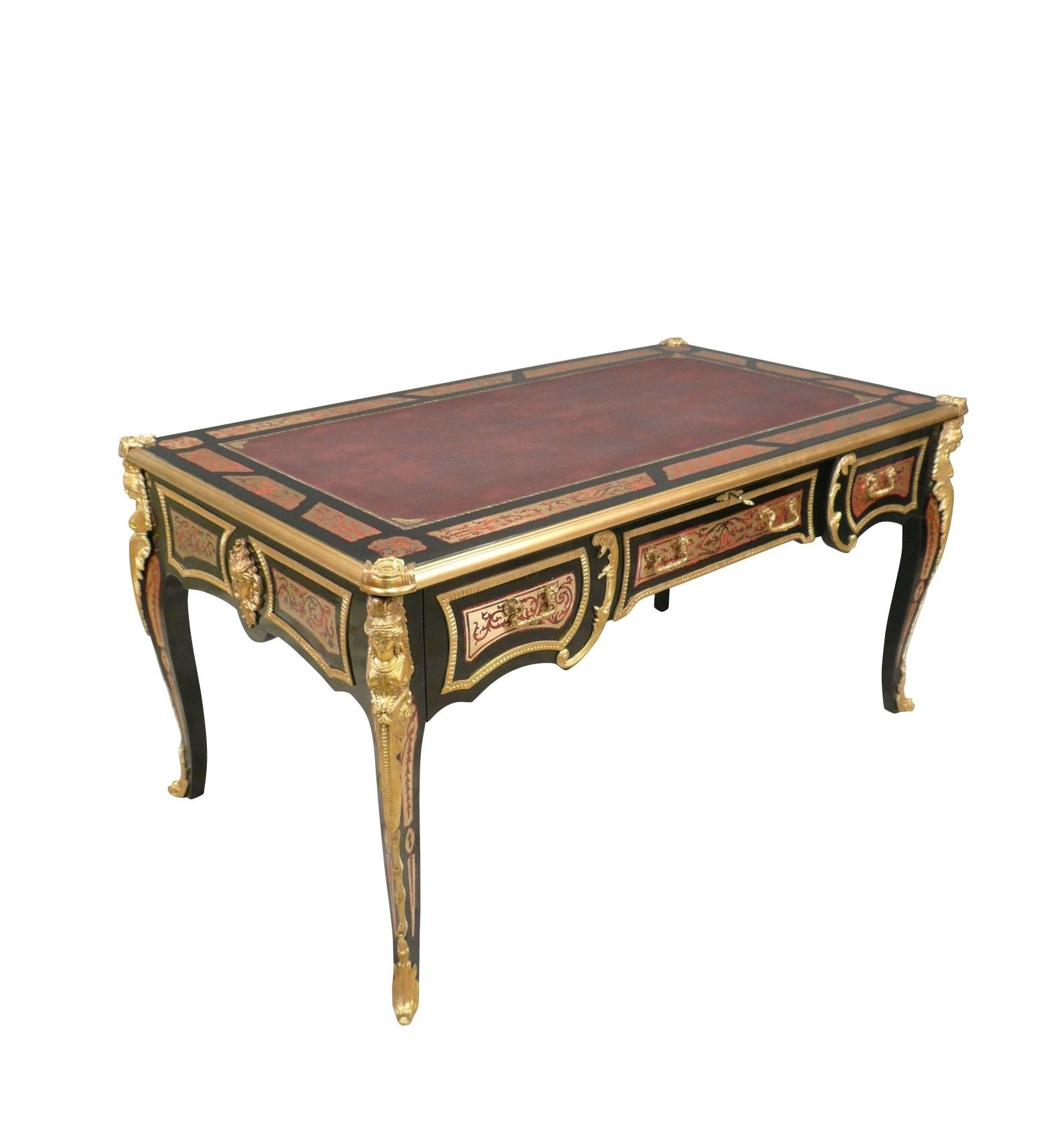Bureau louis xv boulle meubles de style et art d co for Meuble bureau louis xv