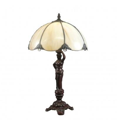 Tiffany lamp woman
