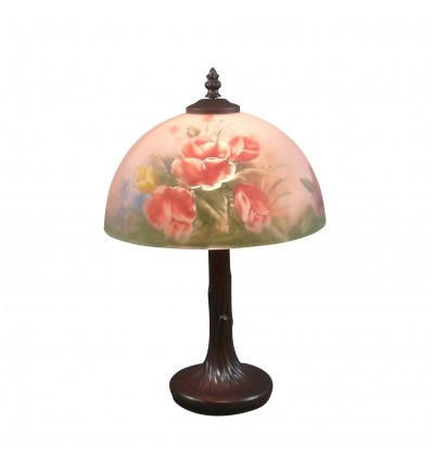 Lampe florale style Tiffany