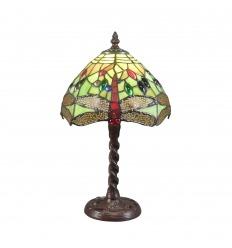 Tiffany lampa grön Libellule