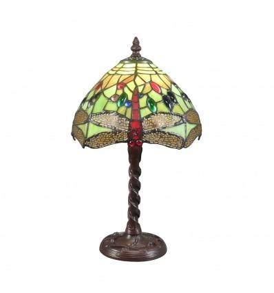 Lampa Tiffany grön Libellule