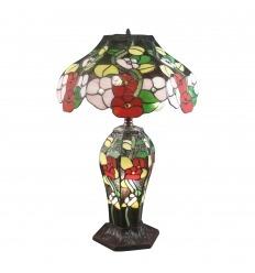 Lámpara de flores estilo Tiffany.
