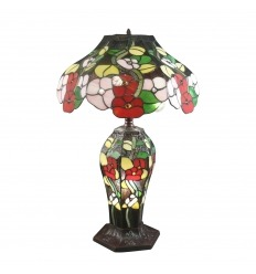Tiffany-style flower lamp