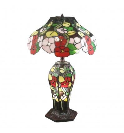 Lampe style Tiffany fleurs