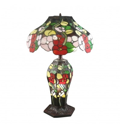 Tiffany style flowers lamp