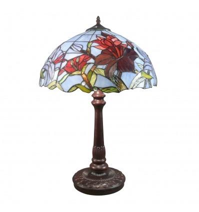 Valaisin Tiffany tulppaanit - erityismääräykset uuden taiteen lasimaalauksia -