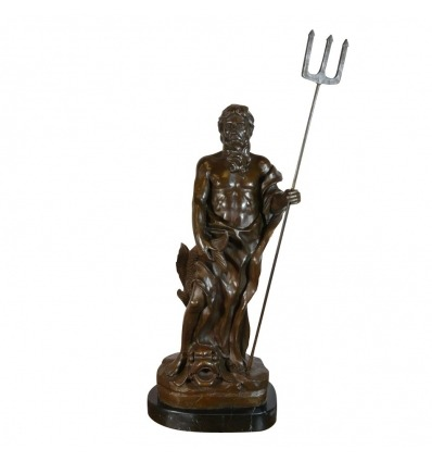 Statue en bronze de Poséidon - Sculptures Neptune
