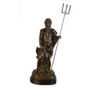 Estatua de bronce de Poseidón - Esculturas en mitología -