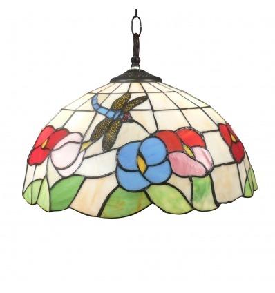 Lámpara Tiffany de techo Valencia - Colgantes de estilo Tiffany