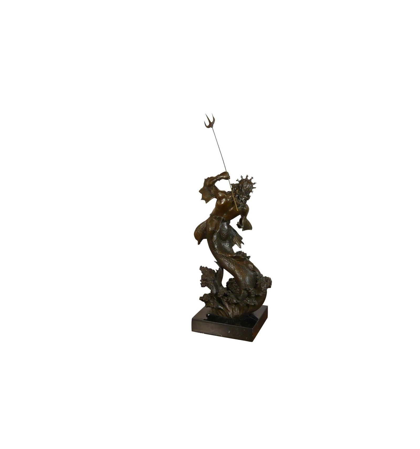 Estatua de Neptuno / Poseidón bronce esculturas griego y romano