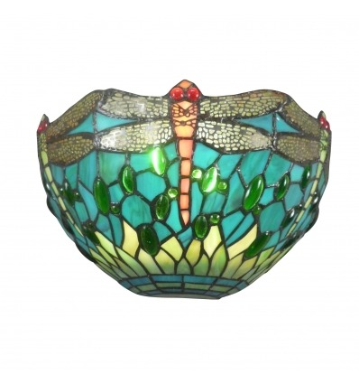 Wall lamp Tiffany Montpellier - stained glass wall lamp -