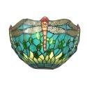 Soveltaa Tiffany Montpellier - valaisin seinään lasimaalauksia -