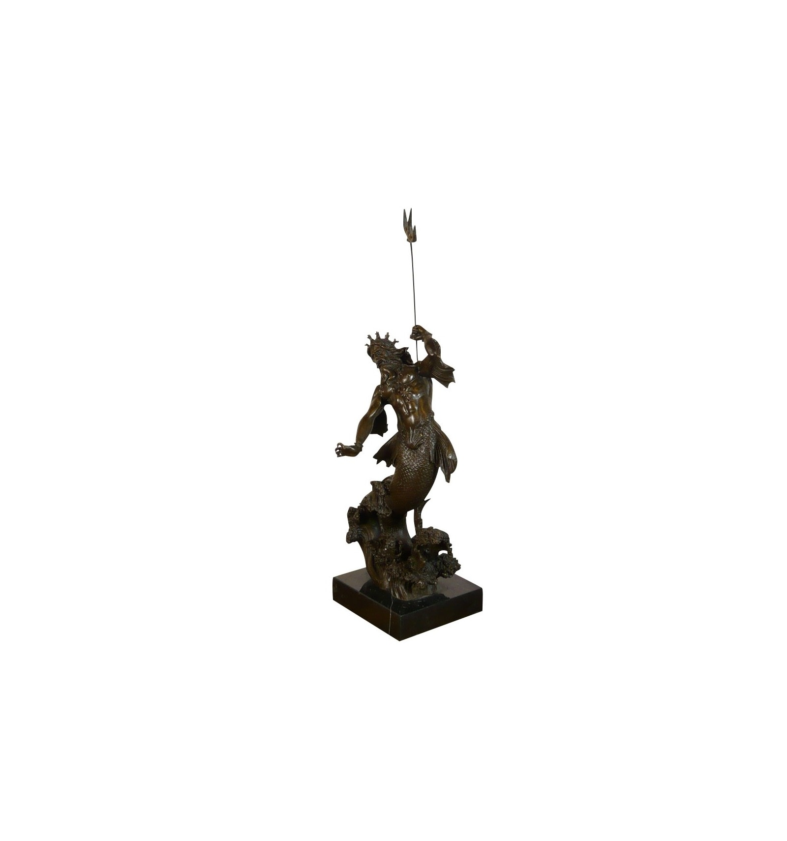 Statue of neptune poseidon bronze greek sculptures roman - Poseidon statue greece ...