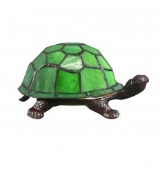 Lampada Tiffany in vetro tartaruga vero
