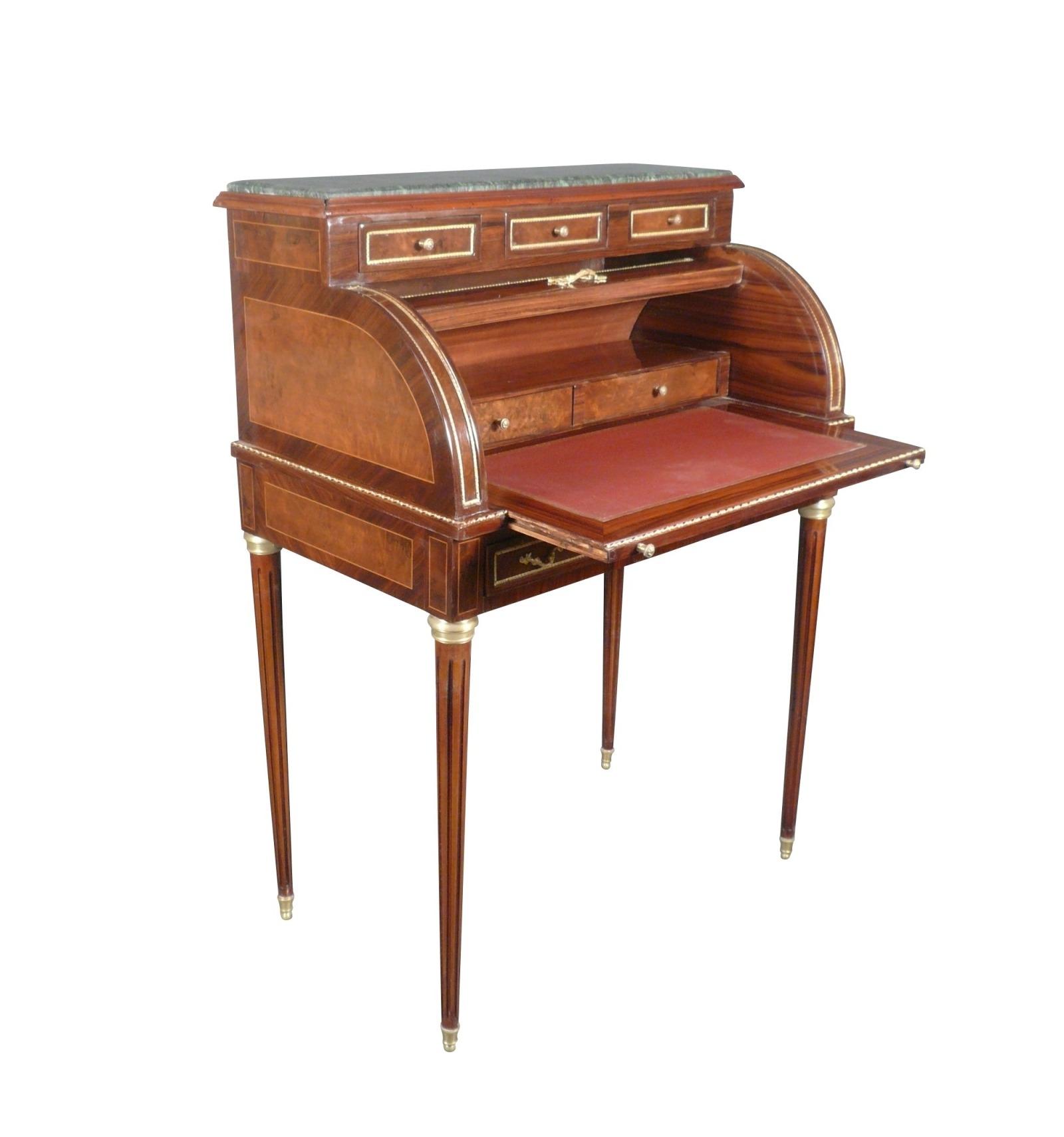 bureau louis xvi cylindre meuble de style ancien. Black Bedroom Furniture Sets. Home Design Ideas