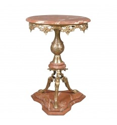 Pedestal style back from Egypt in bronze and red marble Alicante