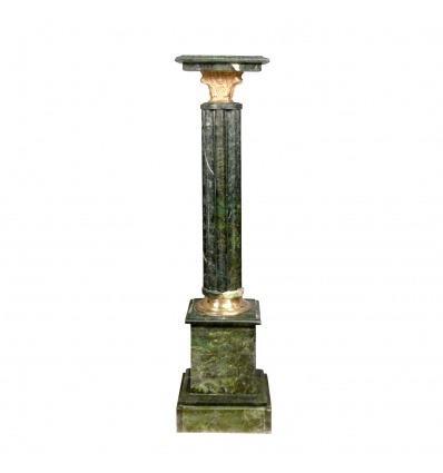 Columna de mármol verde estilo Napoleón III. -