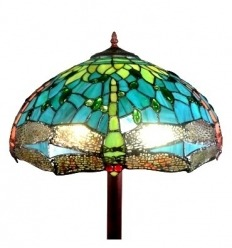 Tiffany floor lamp Montpellier - Tiffany lamps with dragonflies