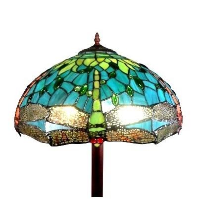 Lámpara de pie Tiffany Montpellier - Lámparas de pie de vidrio