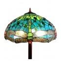 Golv lampa Tiffany Montpellier - glas golv lampor