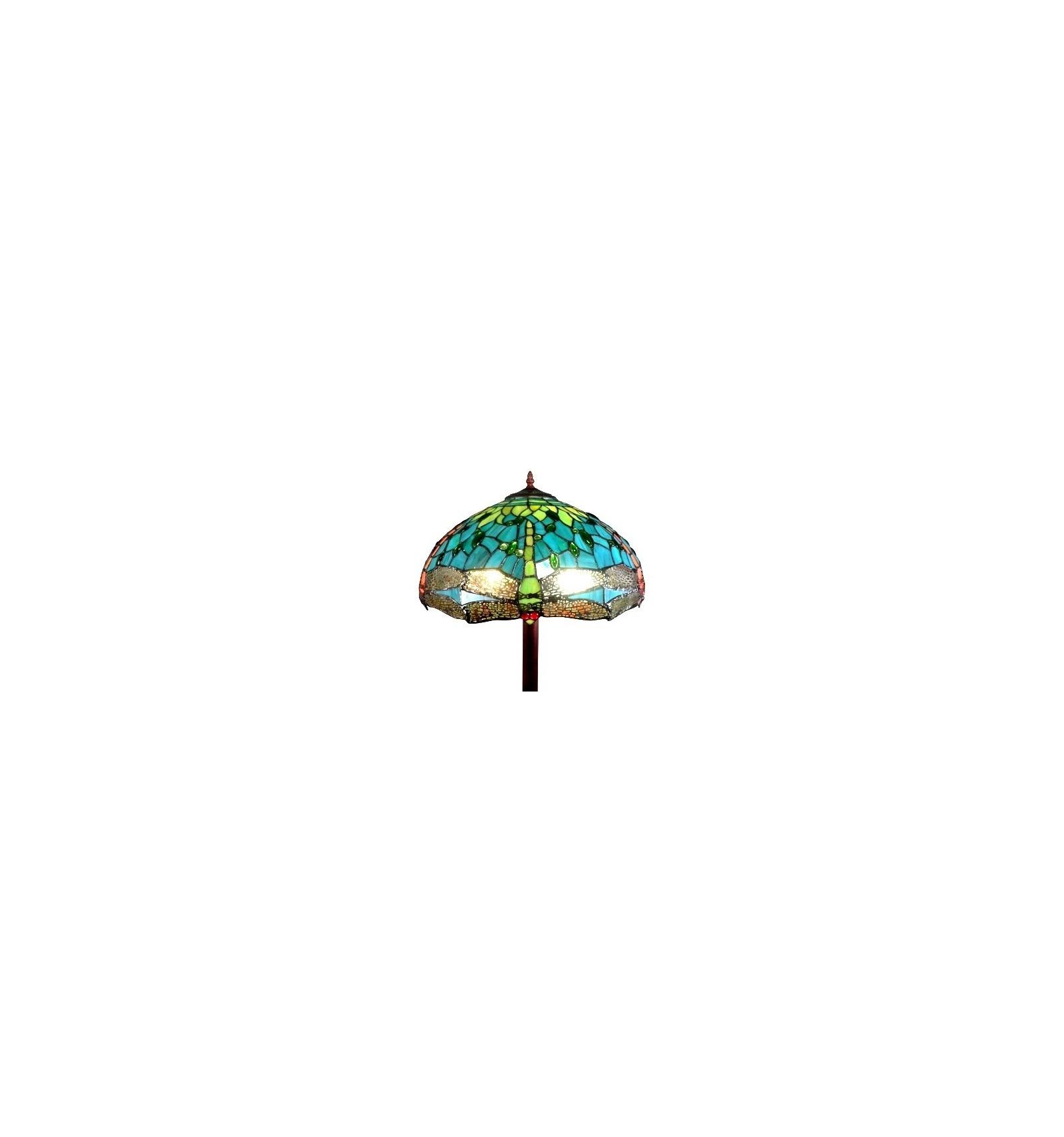 Lampa Stojąca Tiffany Montpellier Oprawy Szklane Podłogi