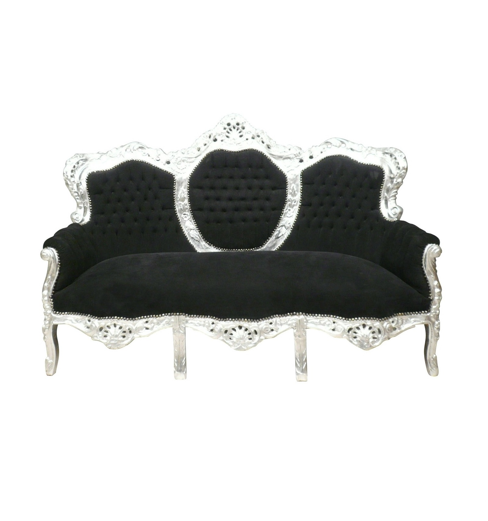 canap baroque noir et argent fauteuil baroque meuble baroque. Black Bedroom Furniture Sets. Home Design Ideas
