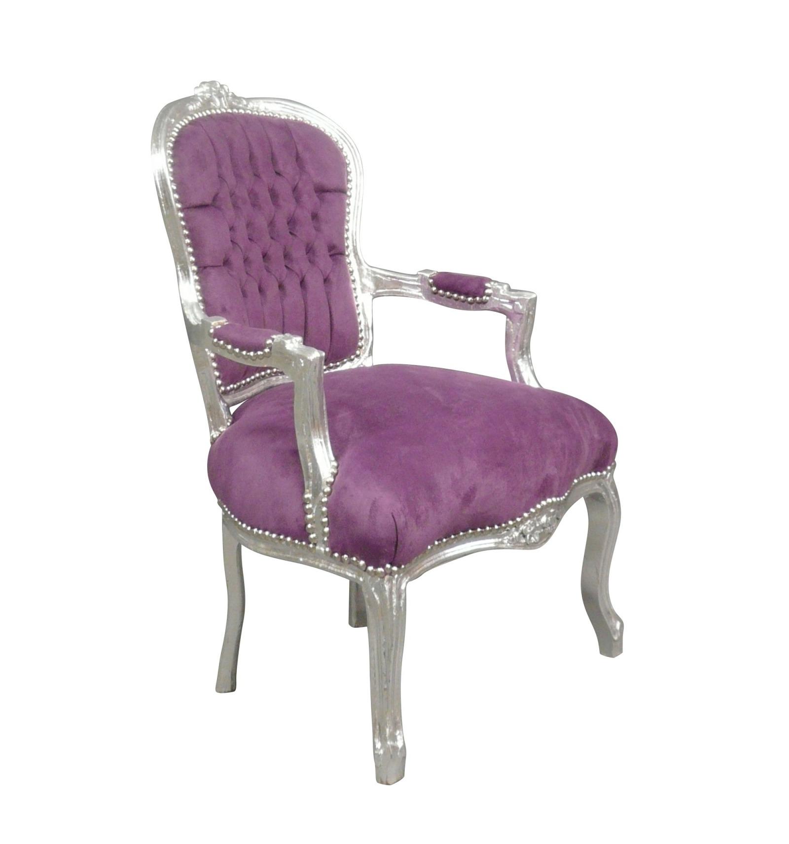 fauteuil louis xv mauve. Black Bedroom Furniture Sets. Home Design Ideas