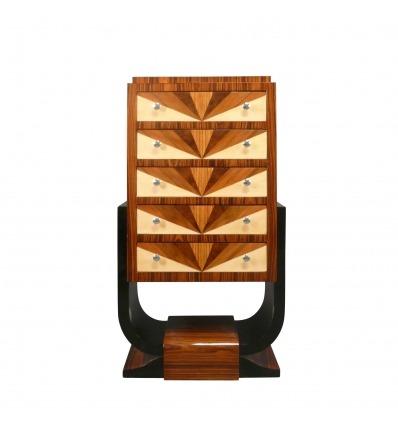 Art Deco Kommode mit fünf Schubladen - Art Deco Kommode -