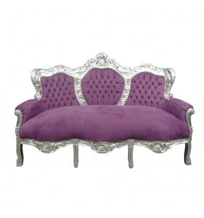 Mauve baroque sofa - Baroque sofa -