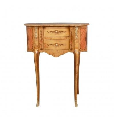 Louis XV Nachttisch - Bettseite -