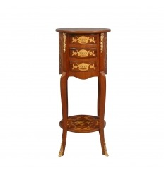 Petite commode ronde Louis XV