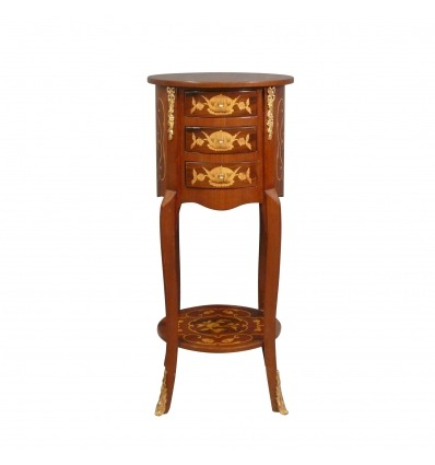 Small Louis XV round dresser - Louis XV chest of drawers -